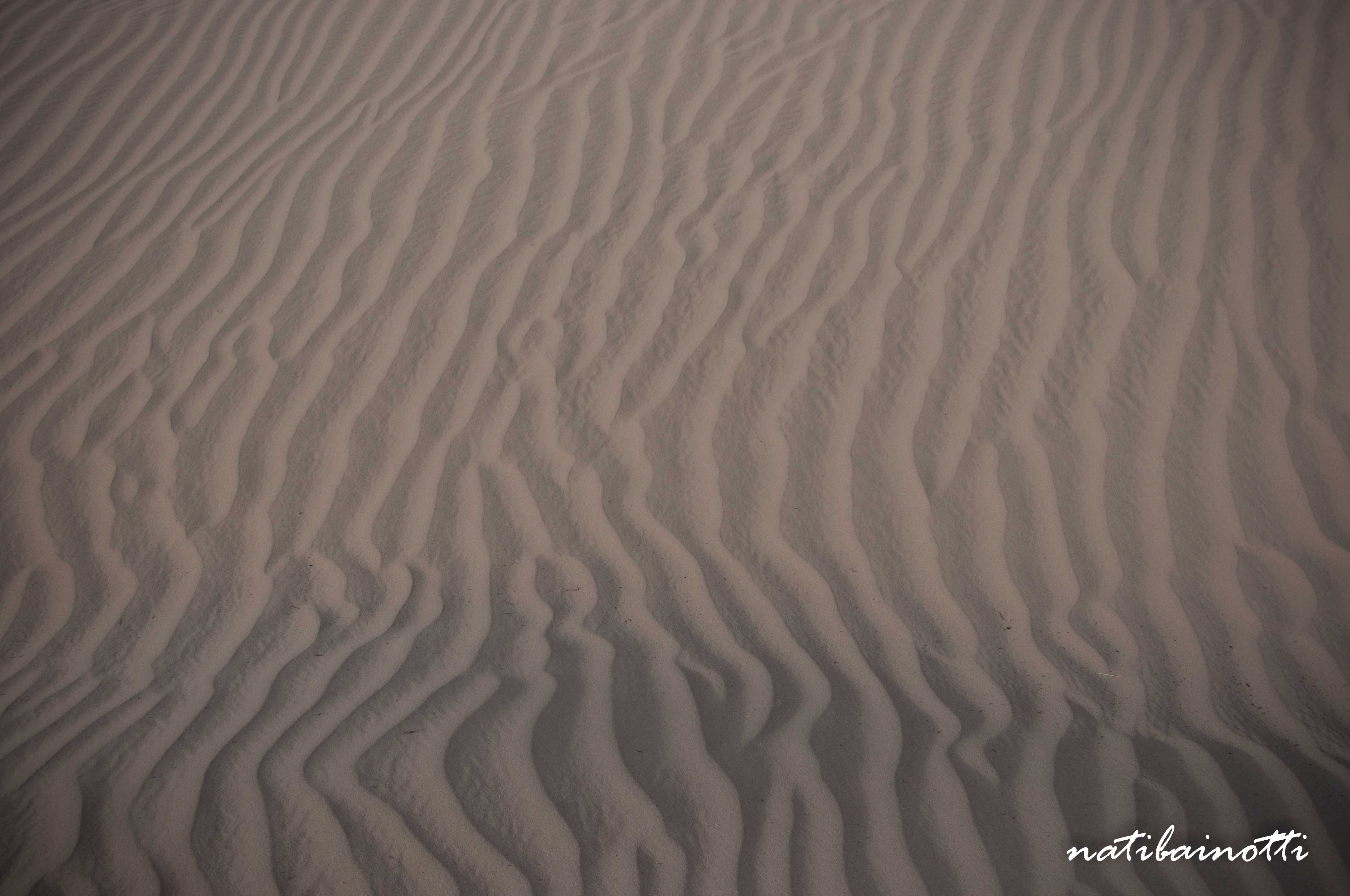 Marcas en la arena.