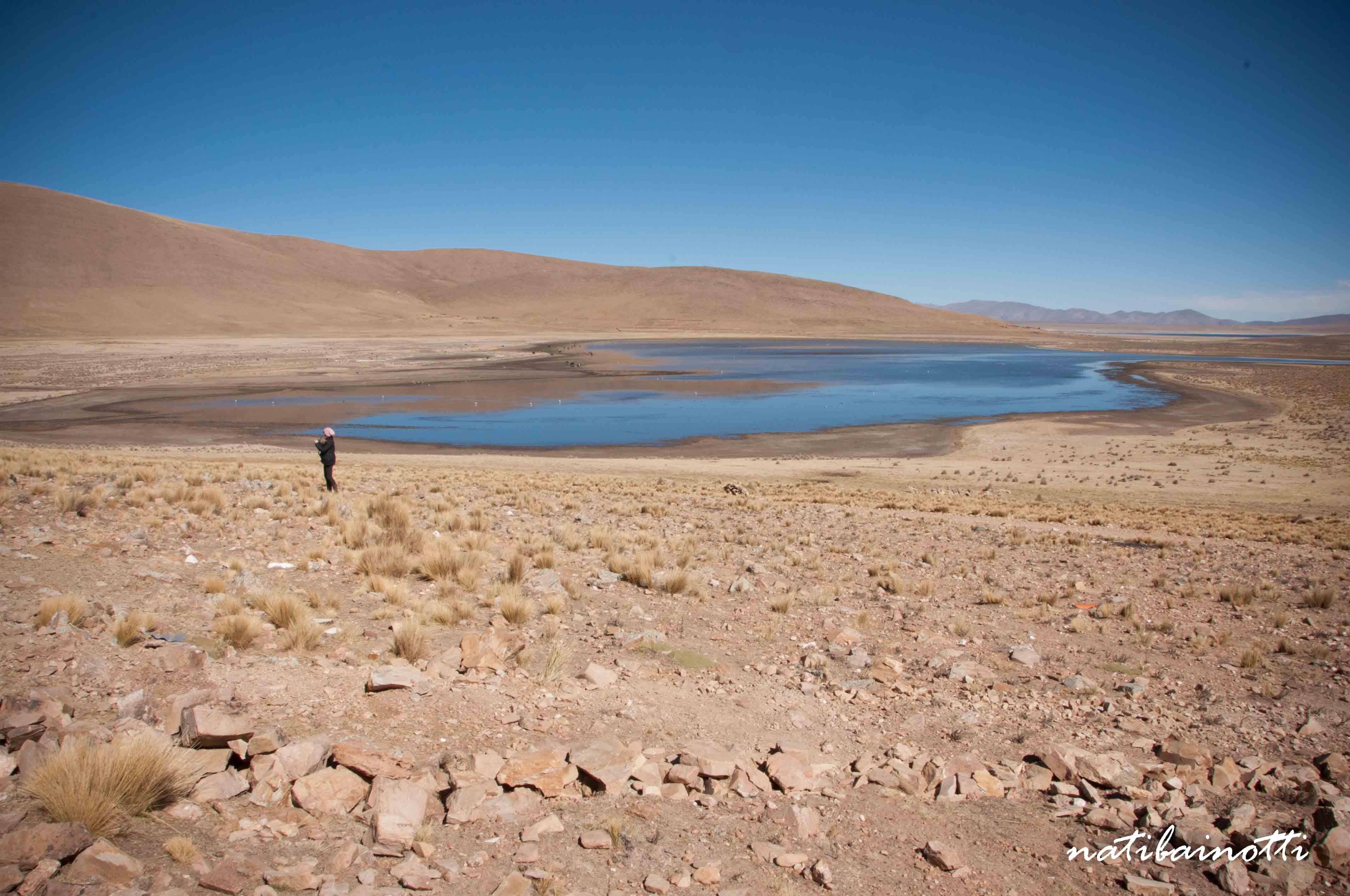 Una de las lagunas de Tajzara, frente al albergue.