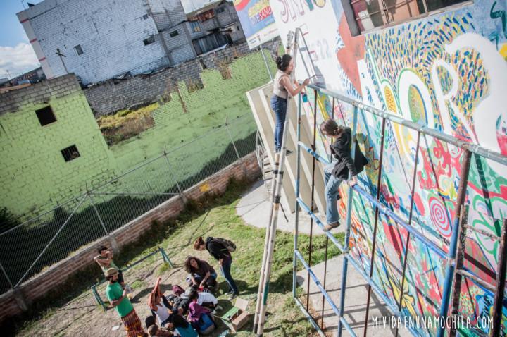 pintada mural proyecto calco