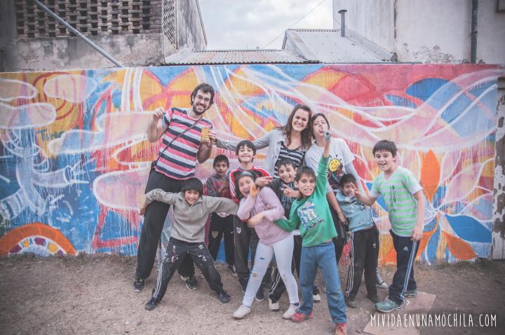 diseñando mural rafaela